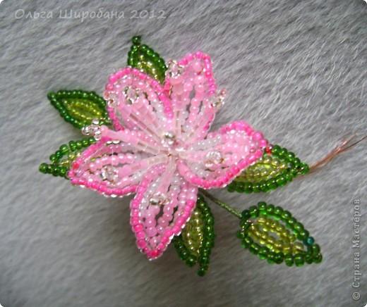Мастер-класс, Поделка, изделие Бисероплетение:   Розовые сны, + мк: часть I Бисер. Фото 8