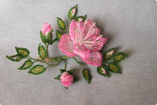 Мастер-класс, Поделка, изделие Бисероплетение:   Розовые сны, + мк: часть I Бисер. Фото 9