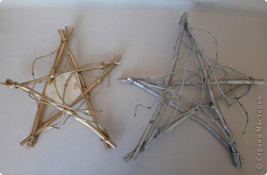 Звезда из веток на рождество своими руками 66