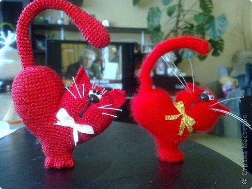 Мастер-класс Вязание крючком: к дню Святого Валентина Нитки Валентинов день. Фото 1