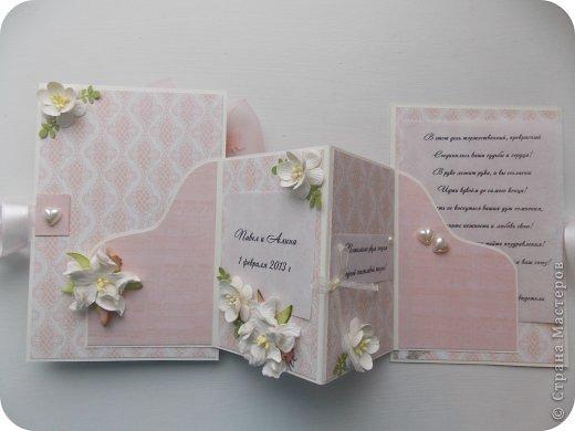 Открытка Свадьба Ассамбляж Открытка и Альбом на Свадьбу Бумага фото 4