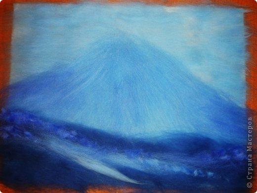 Картина панно рисунок Мастер-класс 8 марта Валяние фильцевание Рисование и живопись Шерстяная живопись Весенний пейзаж Шерсть фото 12