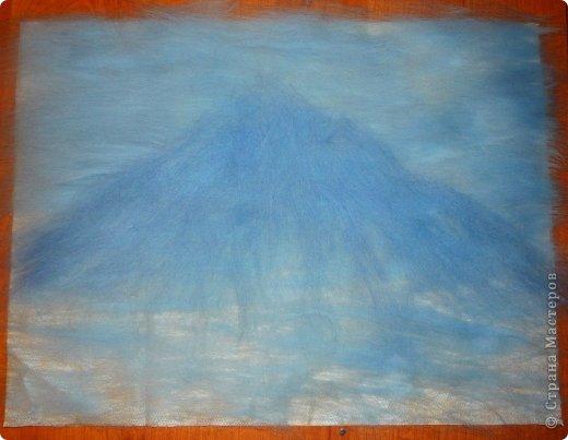Картина панно рисунок Мастер-класс 8 марта Валяние фильцевание Рисование и живопись Шерстяная живопись Весенний пейзаж Шерсть фото 6