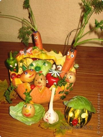 Поделки из овощей чудо грядка 1 класс