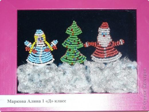 Снегурочки из бисера