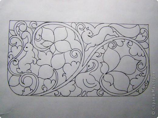 Пенал,украшенный берестой.. Фото 4