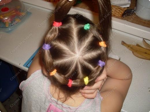 Прически на короткие волосы с резинками фото