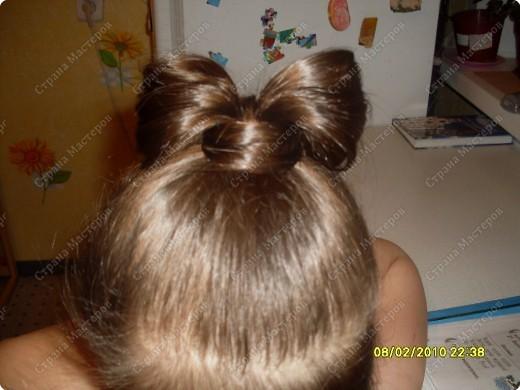 бант из волос прическа
