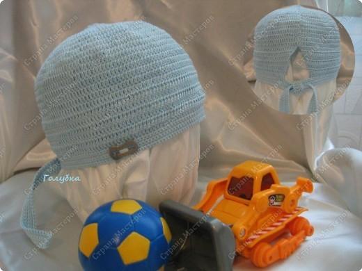 Мастер-класс Вязание крючком: Вяжем вместе: А-ля бандана для мальчика, а можно и для девочки Пряжа. Фото 8