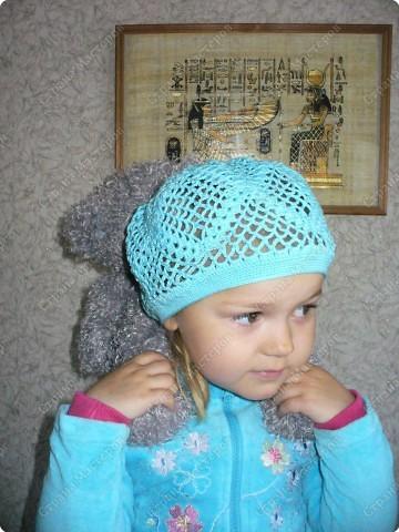 Гардероб, Мастер-класс Вязание крючком: Вяжем вместе : Ажурная шапочка-берет крючком Пряжа. Фото 17