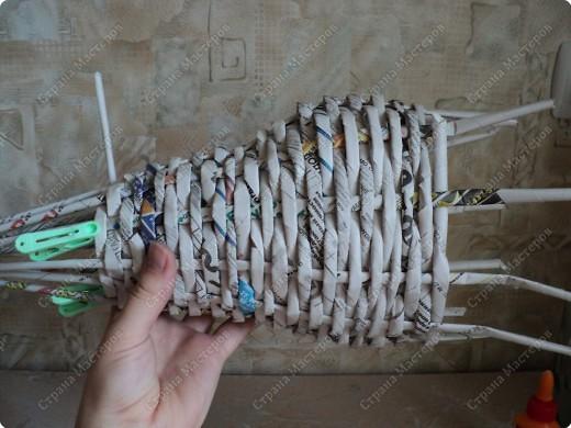 Мастер-класс Плетение: Рыбка, сплетенная из газет+МК. Бумага газетная. Фото 8