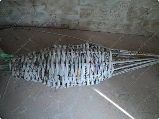 Мастер-класс Плетение: Рыбка, сплетенная из газет+МК. Бумага газетная. Фото 11