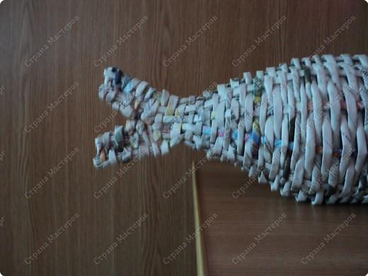 Мастер-класс Плетение: Рыбка, сплетенная из газет+МК.(продолжение) Бумага газетная. Фото 19