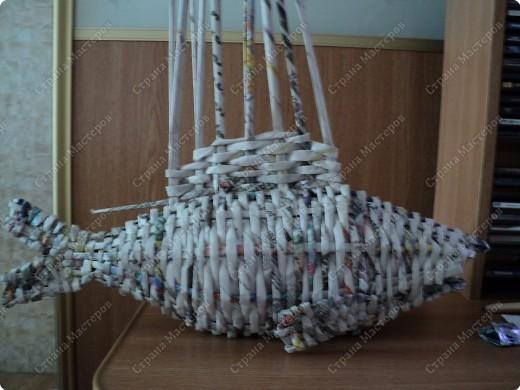 Мастер-класс Плетение: Рыбка, сплетенная из газет+МК.(продолжение) Бумага газетная. Фото 22