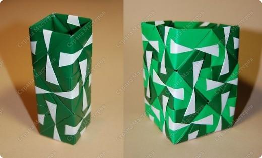 Мастер-класс Оригами: МК ваза оригами. Часть 3.  Бумага. Фото 1