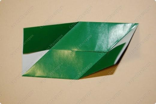 Мастер-класс Оригами: МК ваза оригами. Часть 1. Модуль Бумага. Фото 7
