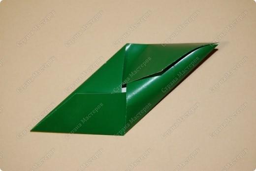 Мастер-класс Оригами: МК ваза оригами. Часть 1. Модуль Бумага. Фото 9