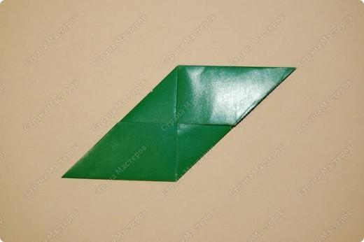 Мастер-класс Оригами: МК ваза оригами. Часть 1. Модуль Бумага. Фото 10