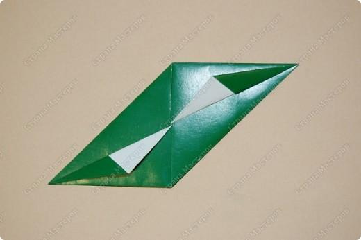 Мастер-класс Оригами: МК ваза оригами. Часть 1. Модуль Бумага. Фото 11
