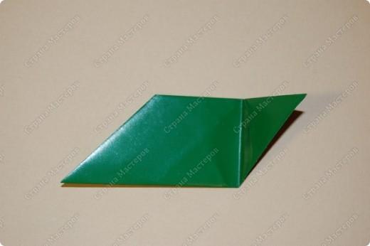 Мастер-класс Оригами: МК ваза оригами. Часть 1. Модуль Бумага. Фото 12