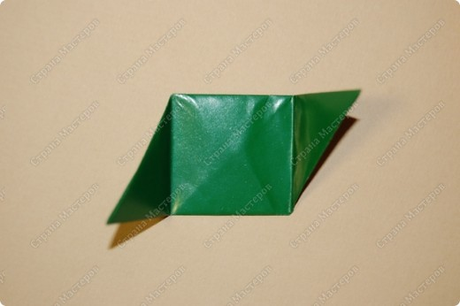 Мастер-класс Оригами: МК ваза оригами. Часть 1. Модуль Бумага. Фото 13