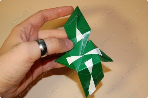 Мастер-класс Оригами: МК ваза оригами. Часть 2. Сборка Бумага. Фото 3