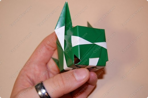Мастер-класс Оригами: МК ваза оригами. Часть 2. Сборка Бумага. Фото 5