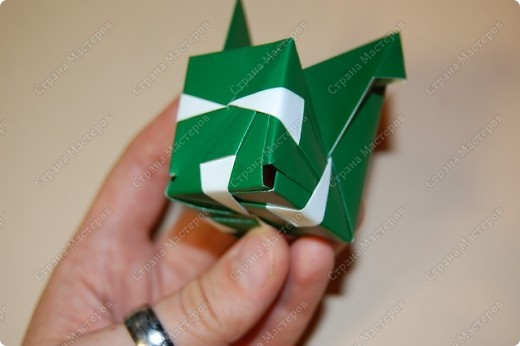 Мастер-класс Оригами: МК ваза оригами. Часть 2. Сборка Бумага. Фото 6