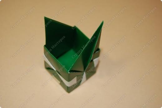 Мастер-класс Оригами: МК ваза оригами. Часть 2. Сборка Бумага. Фото 7