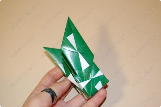 Мастер-класс Оригами: МК ваза оригами. Часть 2. Сборка Бумага. Фото 9