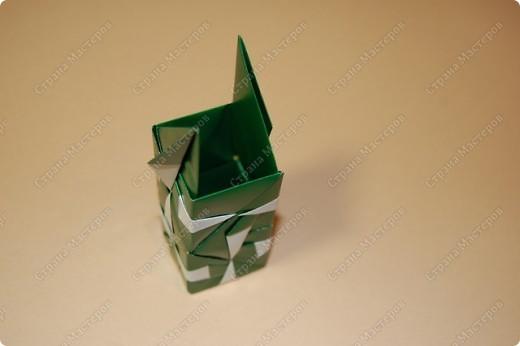 Мастер-класс Оригами: МК ваза оригами. Часть 2. Сборка Бумага. Фото 11