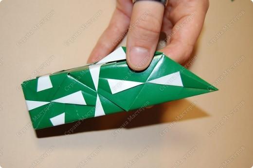 Мастер-класс Оригами: МК ваза оригами. Часть 2. Сборка Бумага. Фото 12