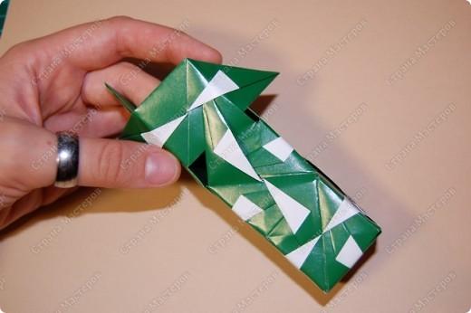 Мастер-класс Оригами: МК ваза оригами. Часть 2. Сборка Бумага. Фото 13