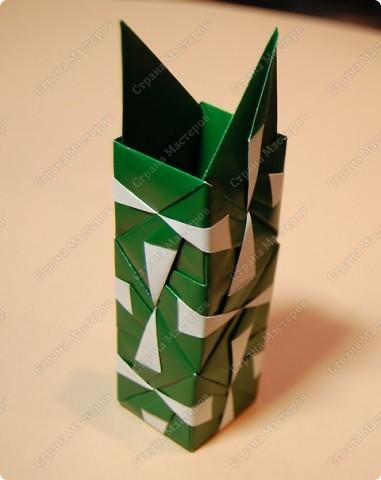 Мастер-класс Оригами: МК ваза оригами. Часть 2. Сборка Бумага. Фото 14