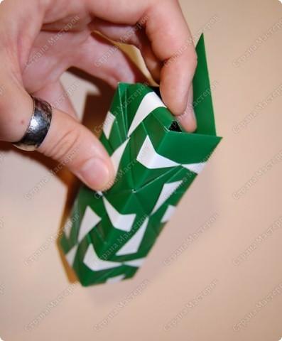 Мастер-класс Оригами: МК ваза оригами. Часть 2. Сборка Бумага. Фото 15