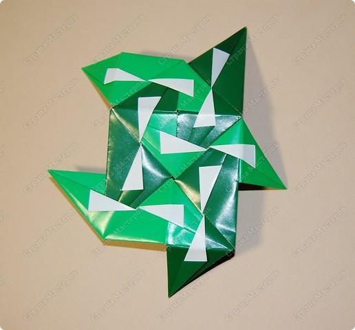 Мастер-класс Оригами: МК ваза оригами. Часть 3.  Бумага. Фото 2