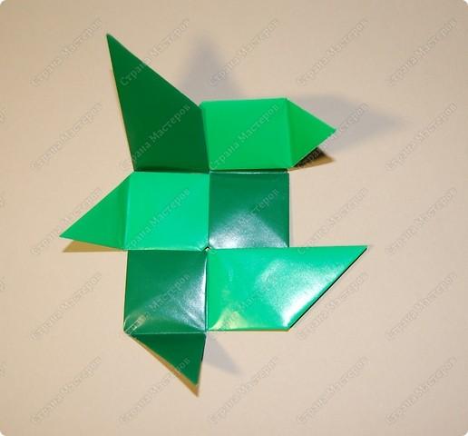 Мастер-класс Оригами: МК ваза оригами. Часть 3.  Бумага. Фото 3