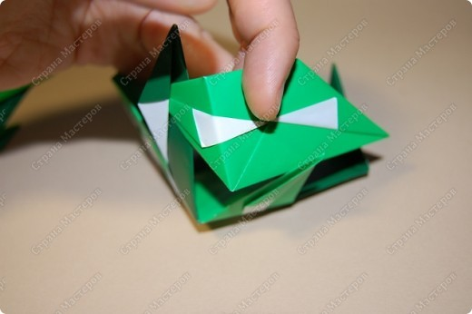 Мастер-класс Оригами: МК ваза оригами. Часть 3.  Бумага. Фото 4