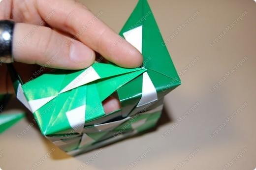 Мастер-класс Оригами: МК ваза оригами. Часть 3.  Бумага. Фото 5