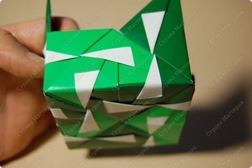 Мастер-класс Оригами: МК ваза оригами. Часть 3.  Бумага. Фото 6