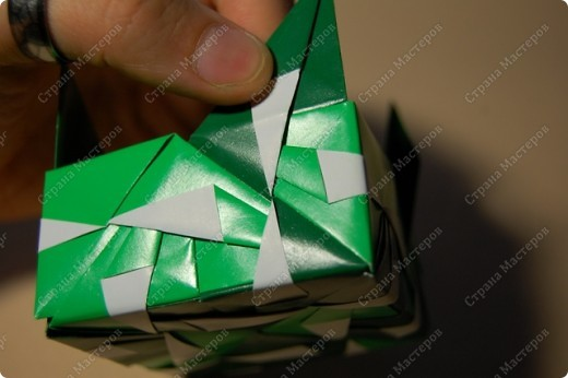 Мастер-класс Оригами: МК ваза оригами. Часть 3.  Бумага. Фото 7
