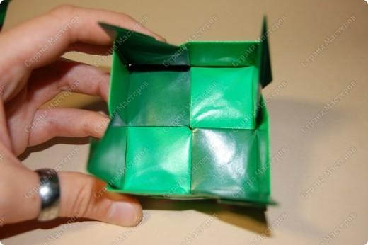 Мастер-класс Оригами: МК ваза оригами. Часть 3.  Бумага. Фото 8