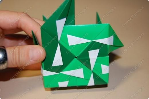 Мастер-класс Оригами: МК ваза оригами. Часть 3.  Бумага. Фото 10