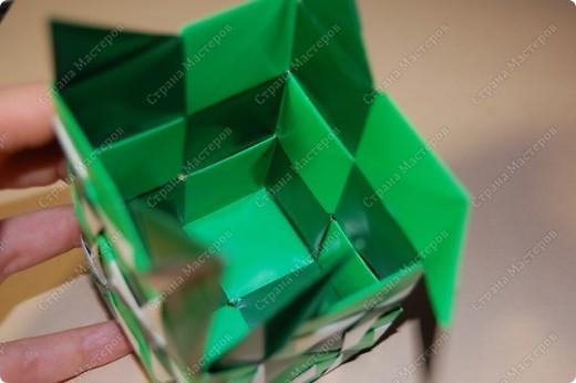 Мастер-класс Оригами: МК ваза оригами. Часть 3.  Бумага. Фото 14