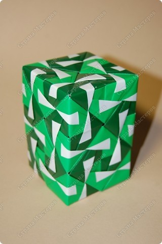 Мастер-класс Оригами: МК ваза оригами. Часть 3.  Бумага. Фото 17