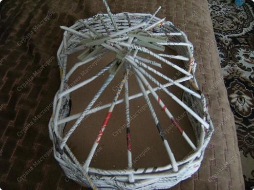 Мастер-класс Плетение: Гитара-кашпо из газет. МК. Бумага газетная. Фото 6