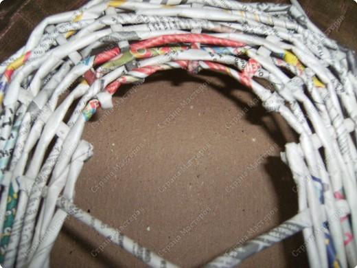 Мастер-класс Плетение: Гитара-кашпо из газет. МК. Бумага газетная. Фото 8