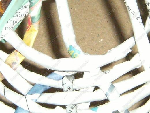 Мастер-класс Плетение: Гитара-кашпо из газет. МК. Бумага газетная. Фото 10