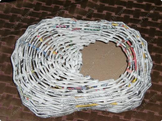 Мастер-класс Плетение: Гитара-кашпо из газет. МК. Бумага газетная. Фото 11
