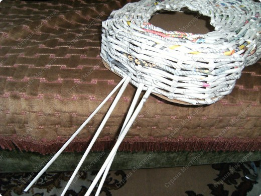 Мастер-класс Плетение: Гитара-кашпо из газет. МК. Бумага газетная. Фото 14